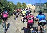La segunda ruta en bicicleta de montaña discurrió por el Camino del Taibilla y la Lentiscosa